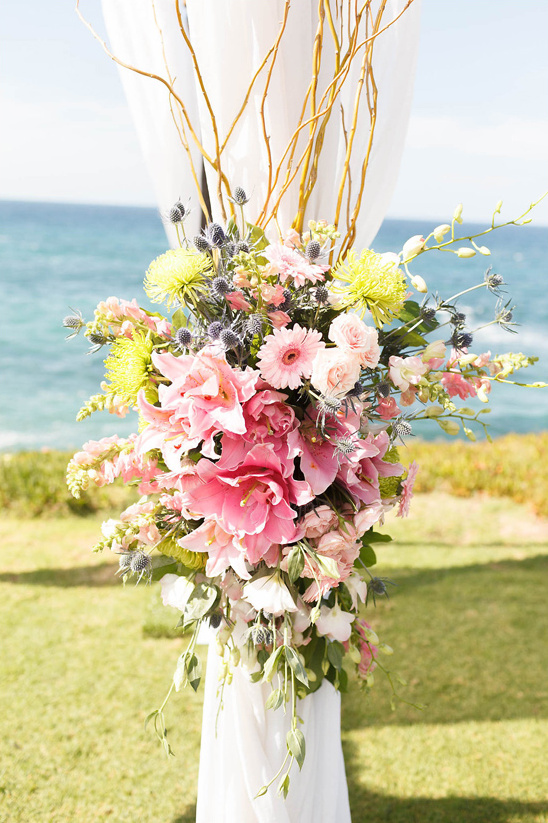 wedding altar flower decor
