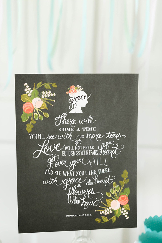 Mumford and Sons wedding sign