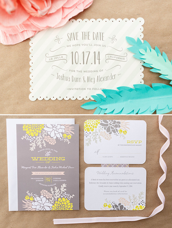 fun and flirty wedding stationary