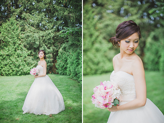 romantic classic bridal look