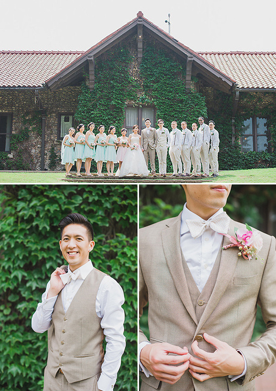 neutral palette grooms attire