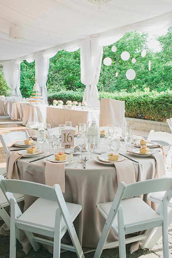 neutral wedding reception ideas