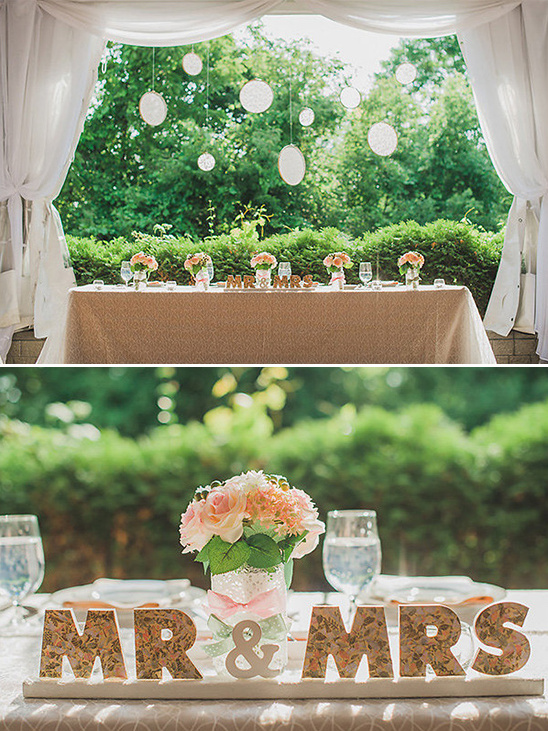 floral print mr and mrs sign