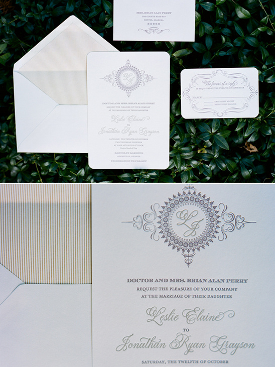 flourished wedding stationery