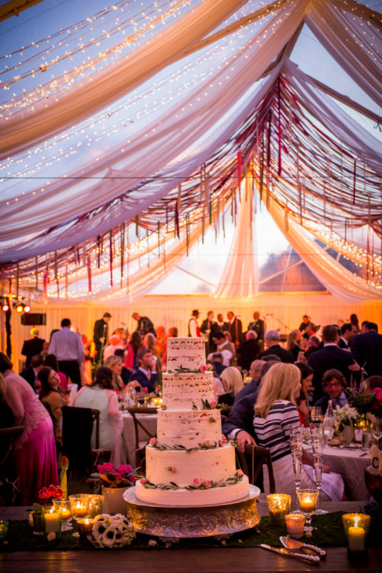 beautiful clear topped wedding tent