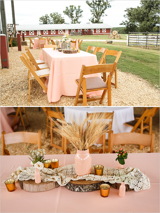 Peach And White Nostalgic Wedding