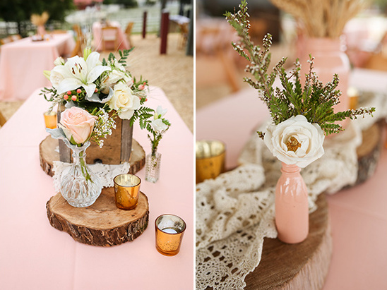 pink and white floral decor