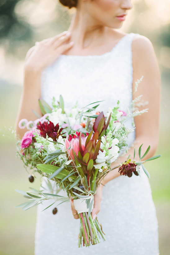 pretty protea bouquet