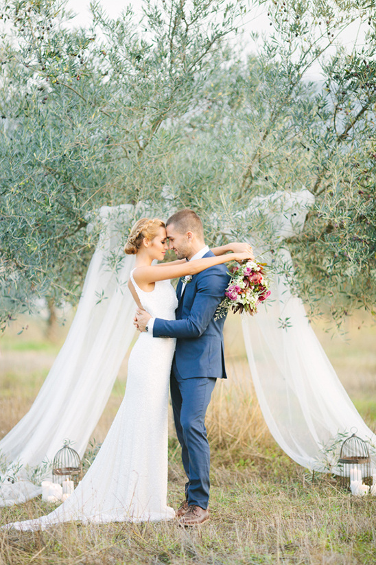 romantic olive orchard ceremony