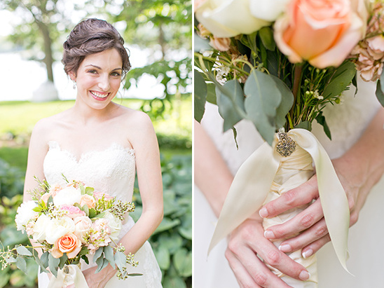 beautiful bride and bouquet charm
