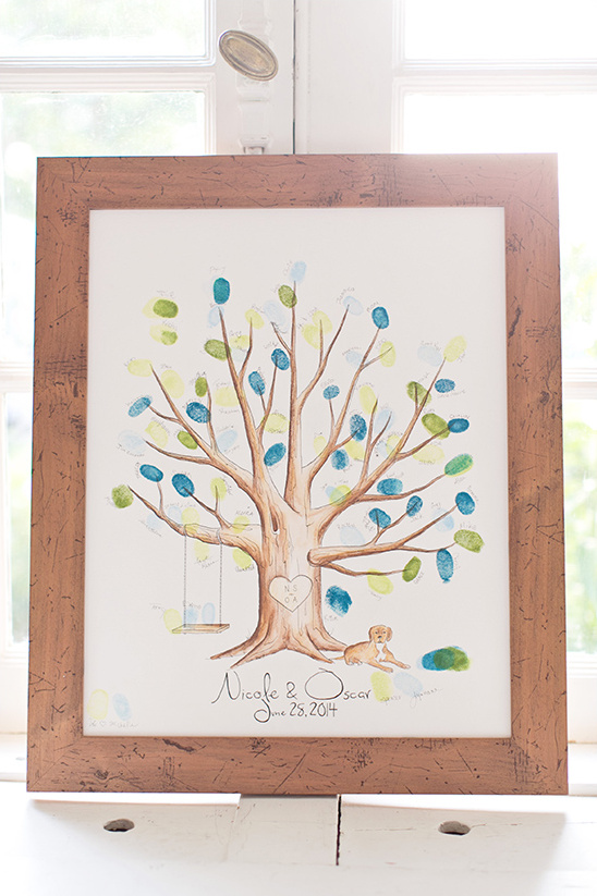 fingerprint tree guestbook idea