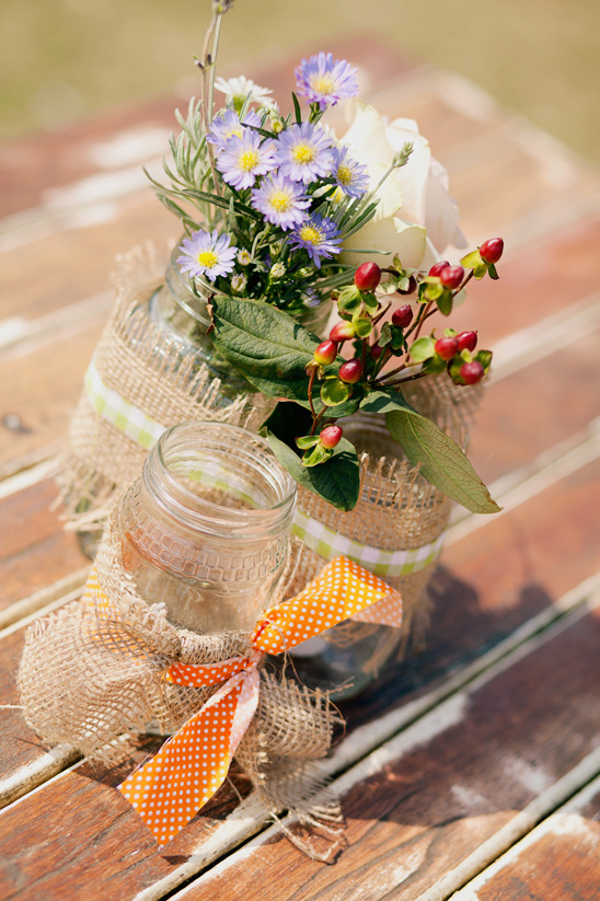 shabby chic flower arrangment