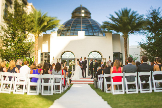 wedding outside The Alfond Inn