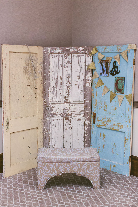 wooden door photobooth backdrop