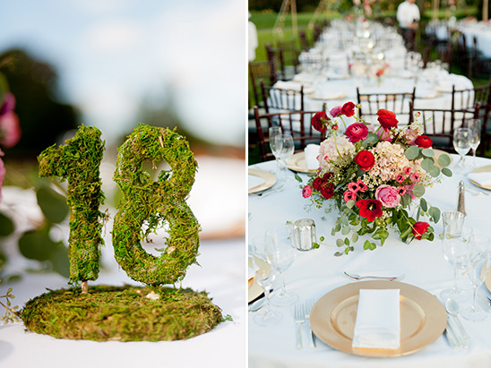 moss covered table numbers