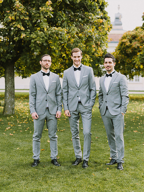 dashing grey groomsmen