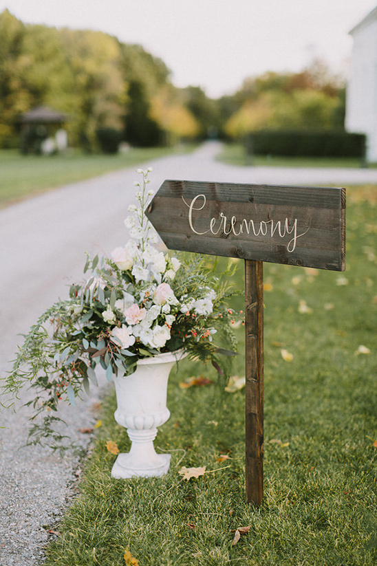 wooden script ceremony sign