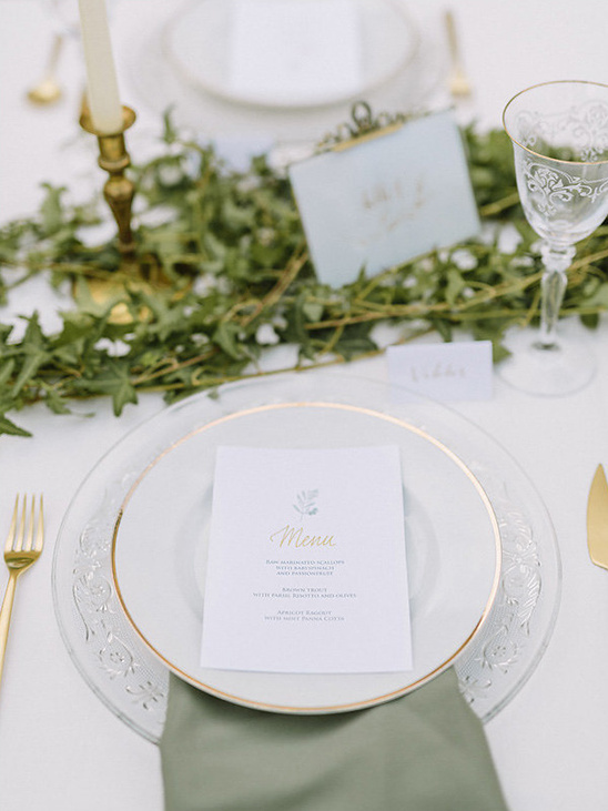 crystal and china place settings