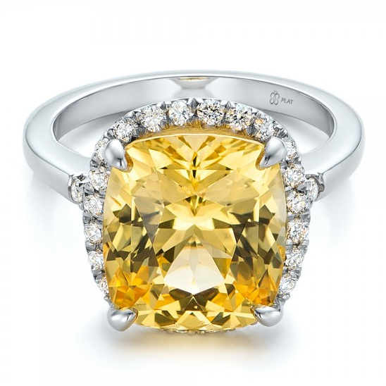 Yellow sapphire ring from Joseph Jewelry