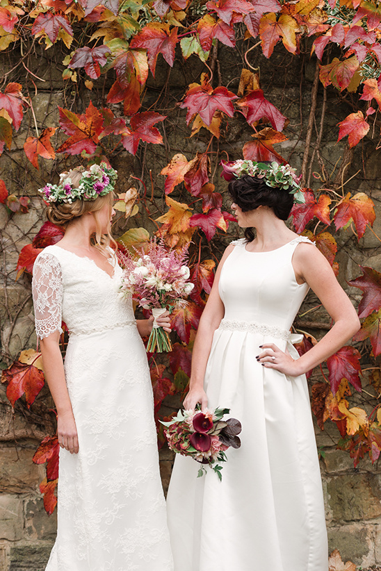 fall and winter bridal looks