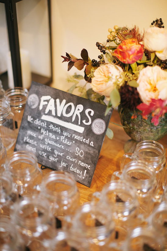 mason jar mug favors