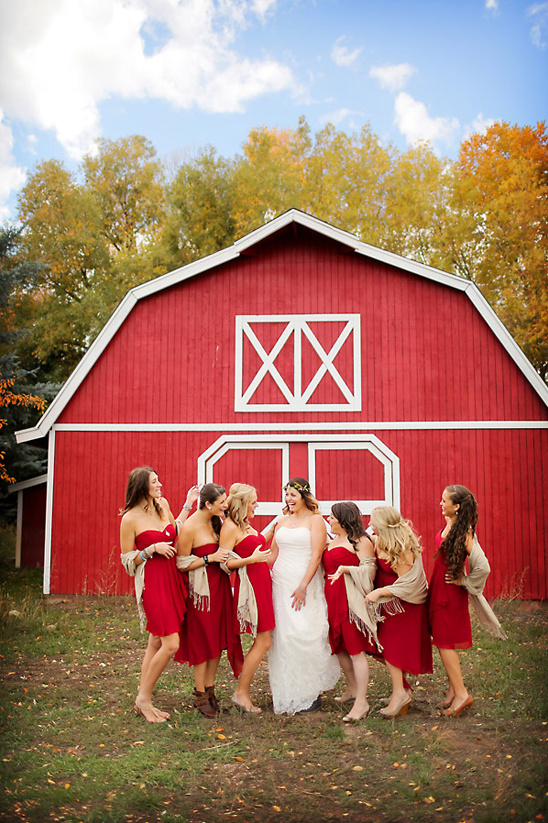 big red barn fall wedding