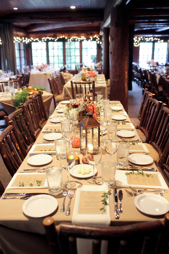 rustic lodge wedding reception