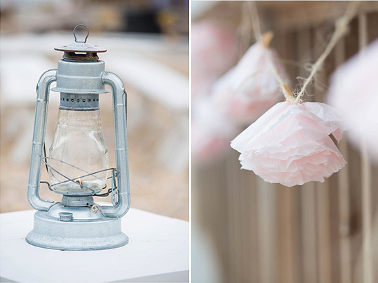 lantern and paper flowers