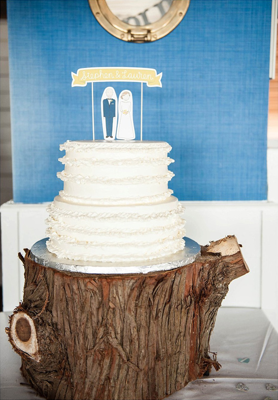 simple paper cake topper