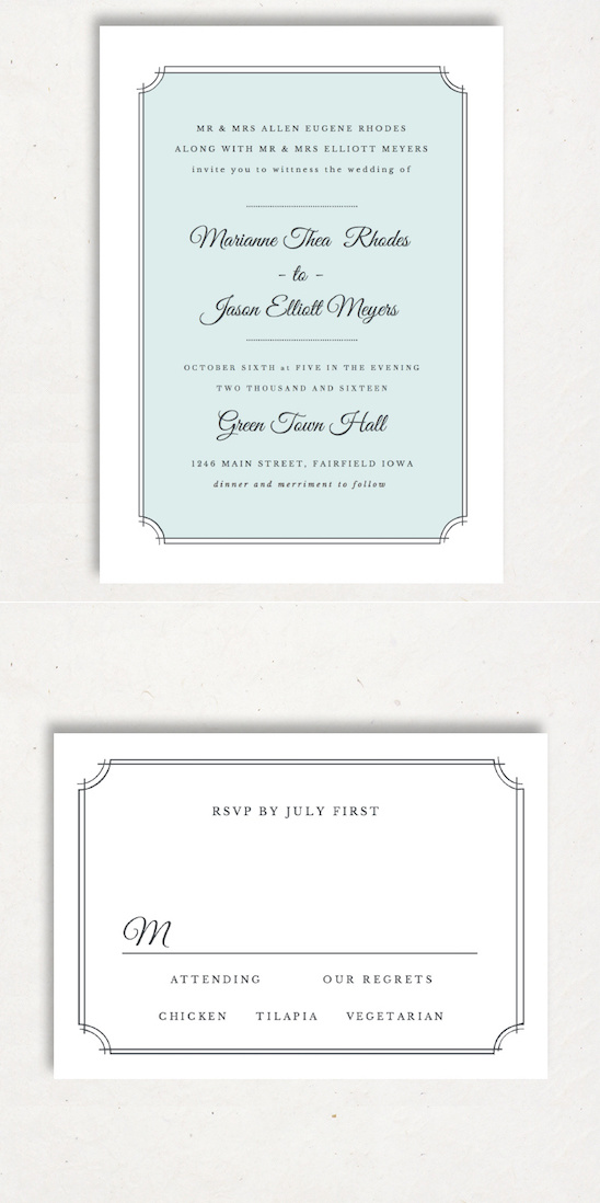 Free pirntable wedding invitation