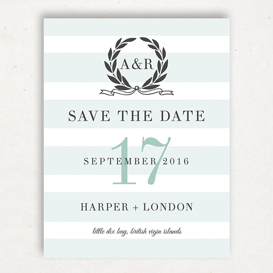Swell and Grand Save The Date Card