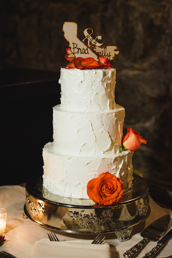 US states topped wedding cake