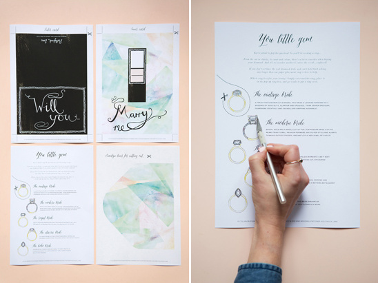 print out pdfs and cut out chosen ring