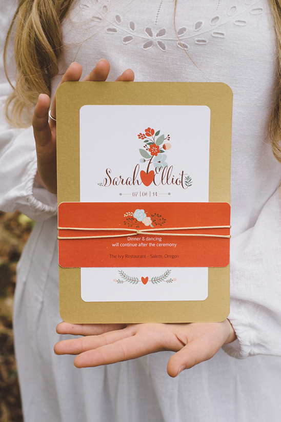 fun and sweet orange wedding stationery