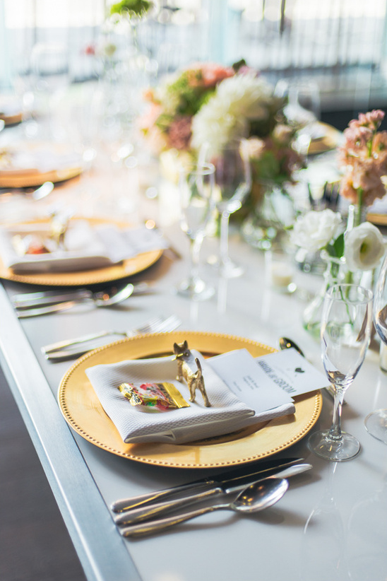 glam gold place setting