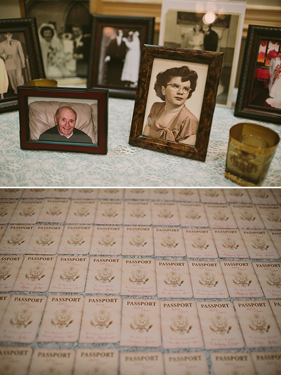 vintage family photos and passport escort cards