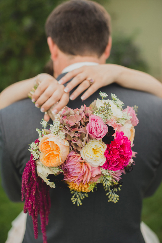 sunset inspired wedding bouquet