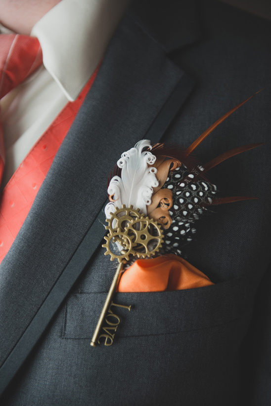 gamer inspired boutonniere