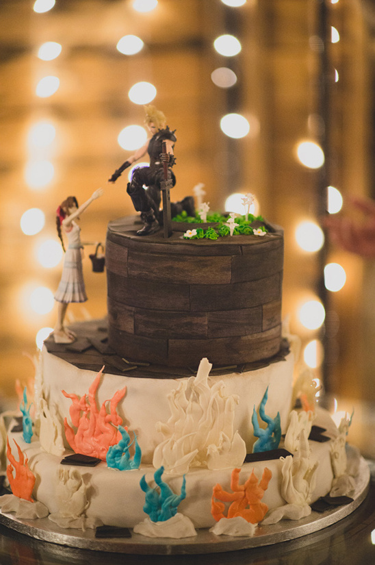 final fantasy themed wedding cake