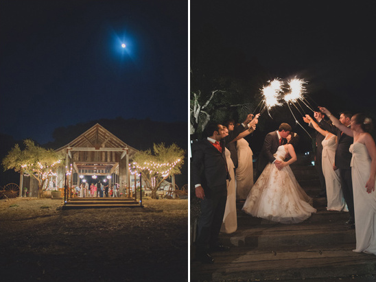 rustic barn and sparkler exit