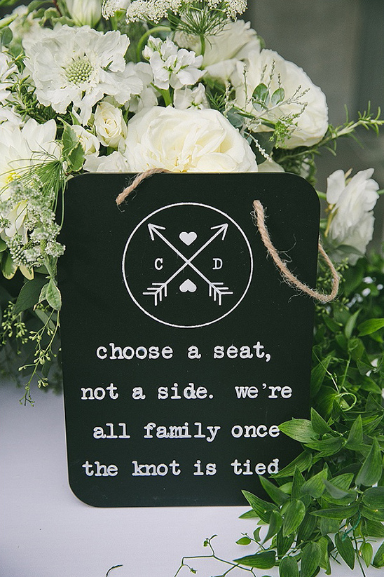 choose a seat not a side sign