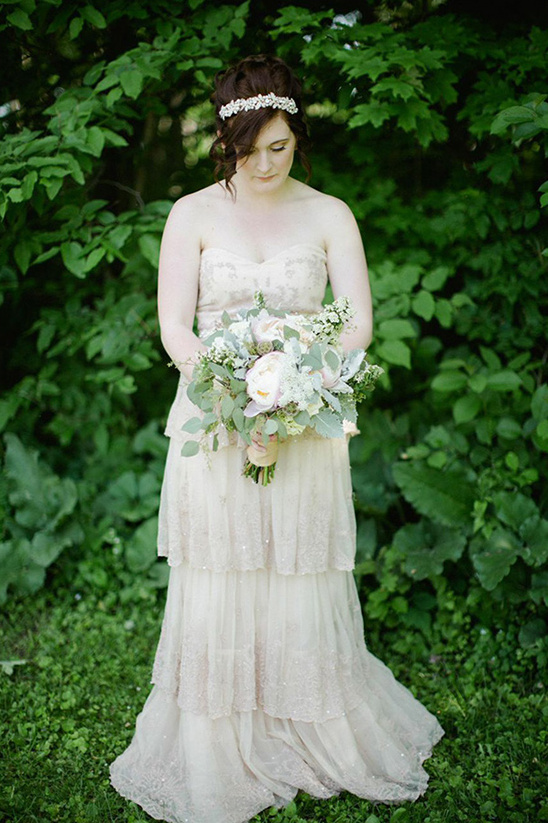 romantic vintage bridal feel