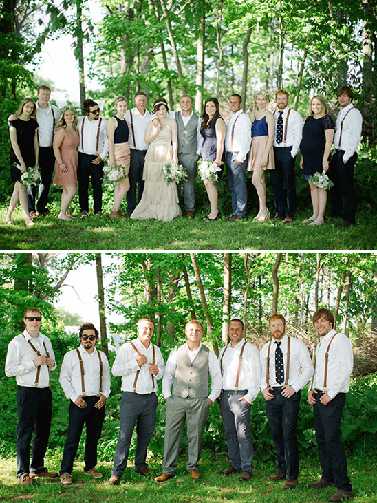 suspenders groomsmen look