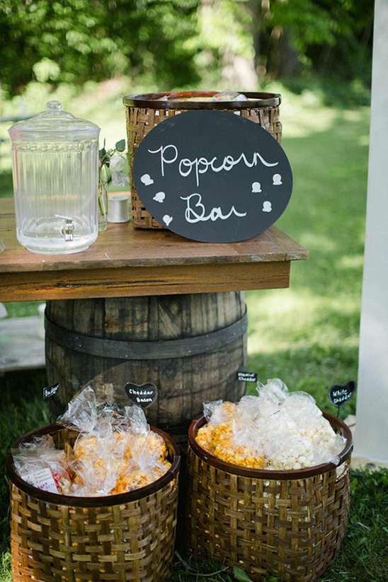 popcorn bar at your wedding