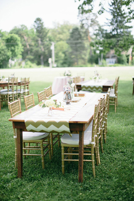 family style outdoor reception