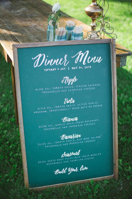 wedding menu pizza for dinner