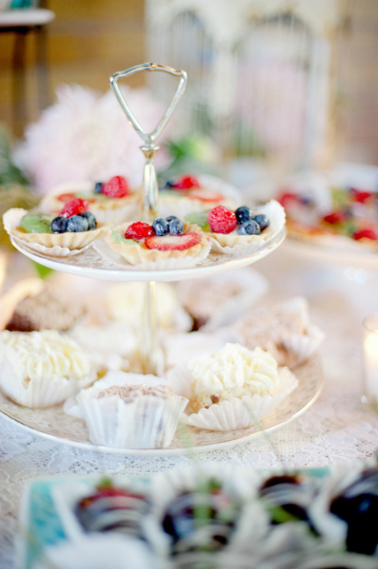 antique tea party desserts