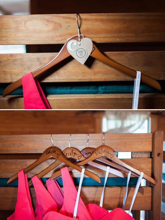 diy bridesmaid hangers