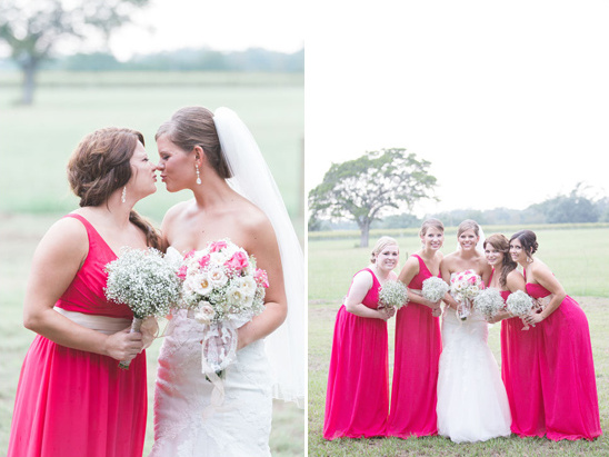 floor length red bridesmaid dresses