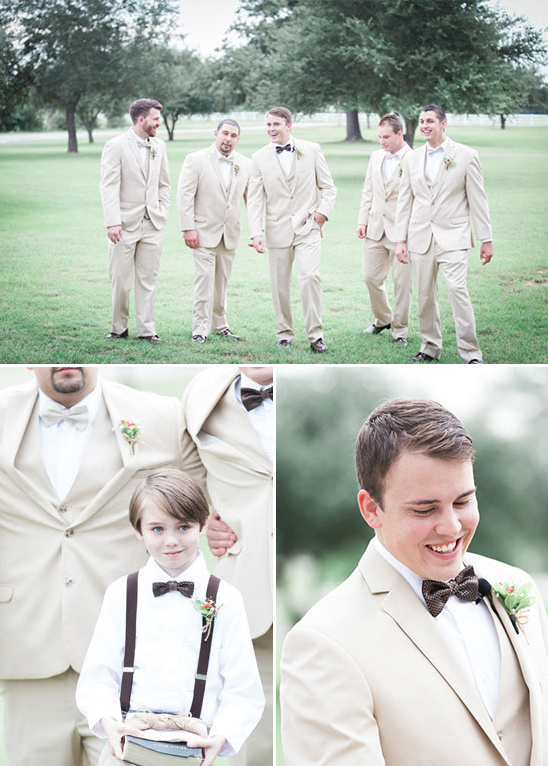 brown and tan groomsmen